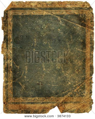 The Old Dark Blue Shabby Paper Cover