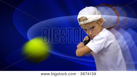 The Boy Plays Tennis