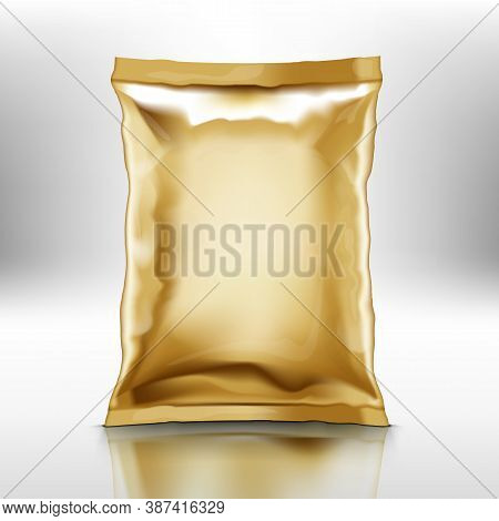 Blank Golden Foil Doy Pillow Pack With Shadow