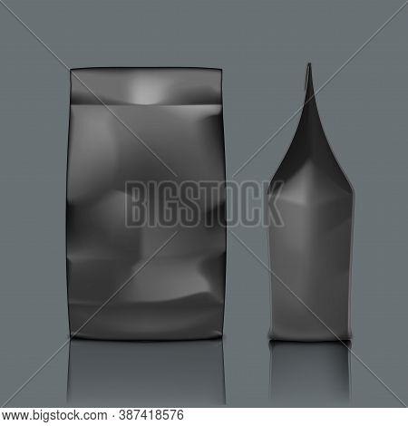 Blank Foil Or Paper Food Pouch Bag Packaging