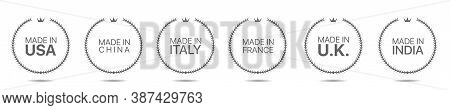 Made In China, Made In Italy, Made In Usa, Made In Uk, Made In France Laurel Wreath Set