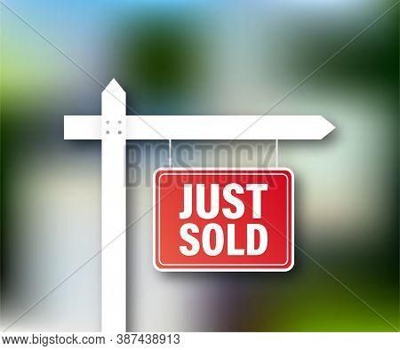 Sale Tag. Just Sold Sign For Marketing Design. Vector Stock Illustration.