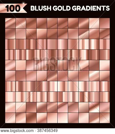 Vector Collection Of Copper Golden Gradients For Design.