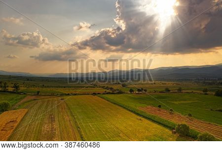 Landscape From Banat In Romania, Geographical Historical Region Between Central And Eastern Europe D