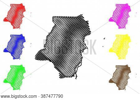 Stann Creek District (belize, Districts Of Belize) Map Vector Illustration, Scribble Sketch Stann Cr