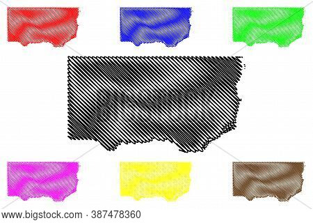 Clinton County, Iowa (u.s. County, United States Of America, Usa, U.s., Us) Map Vector Illustration,