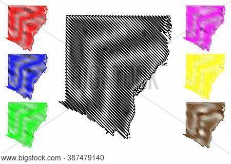 Des Moines County, Iowa (u.s. County, United States Of America, Usa, U.s., Us) Map Vector Illustrati