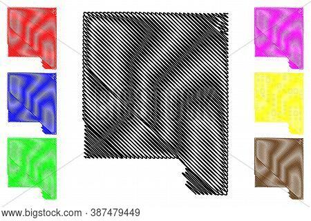 Johnson County, Iowa (u.s. County, United States Of America, Usa, U.s., Us) Map Vector Illustration,