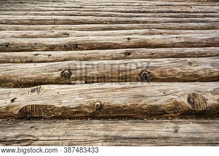 Image Of Abstract Background Of An Old Logs