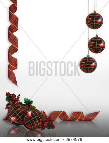 Christmas Ornaments Border Design