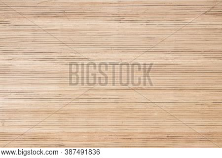 Brown Bamboo Board With Striped Pattern Background