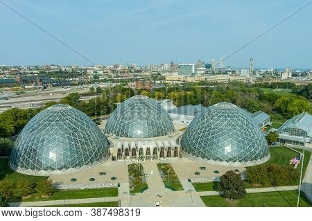 Milwaukee, Wi: 23 September 2020:  An Aerial Image Of The Mitchell Domes In Milwaukee Wisconsin