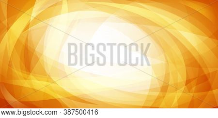 Abstract Background Of Intersecting Curves And Bent Translucent Shapes In Yellow Colors