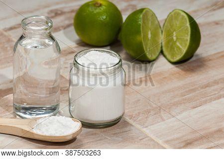 Baking Soda - Sodium Bicarbonate, Vinegar, And Lemon; Cleaning Agent.