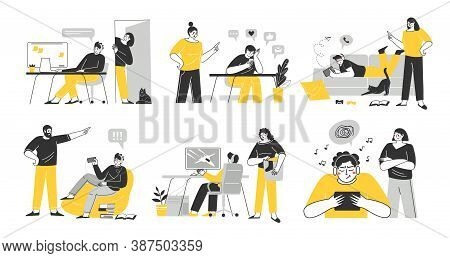 Problems Of Relations Between Teenagers And Their Parents. Dependence On Gadgets. Ignoring Teenagers