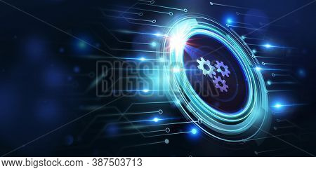 Business, Technology, Internet And Network Concept. Automation Software Technology Process System. 3