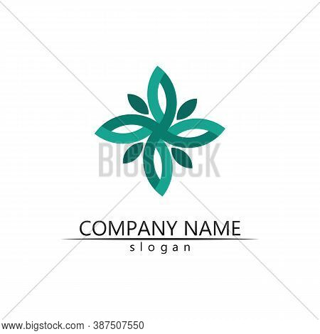 Tree Leaf Vector And Green Logo Design Friendly Concept