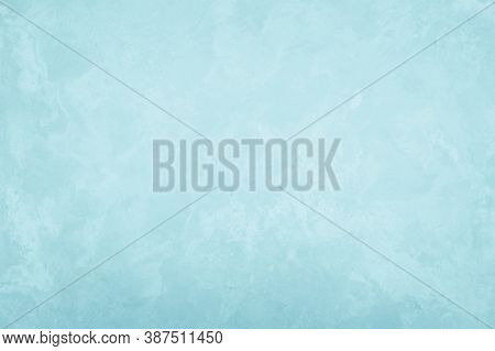 Pastel Blue And White Concrete Stone Texture For Background In Summer Wallpaper Decor. Cement And Sa