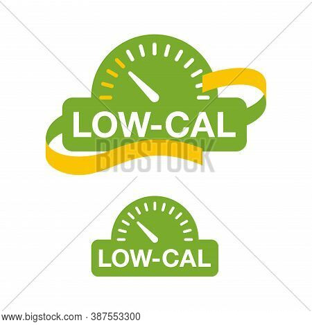 Low Cal Icon - Combination Of Measuring Tape And Weight Scales - Pictogram For Dietary Low-cal Food