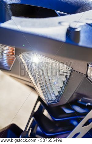 Rear Taillights Of Modern Motorcycle