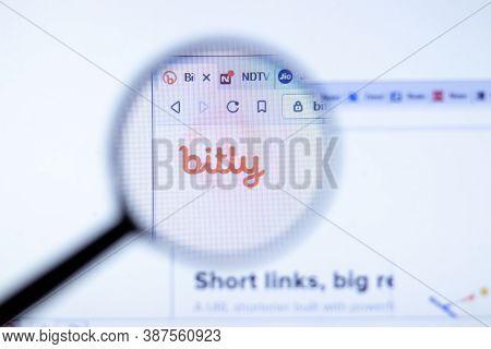 New York, Usa - 29 September 2020: Bitly Bit.ly Company Website With Logo Close Up, Illustrative Edi