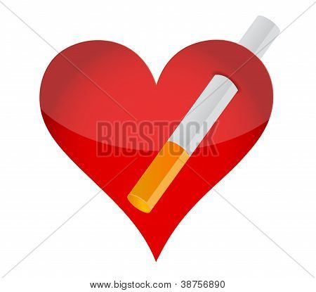 Heart And Cigarrette