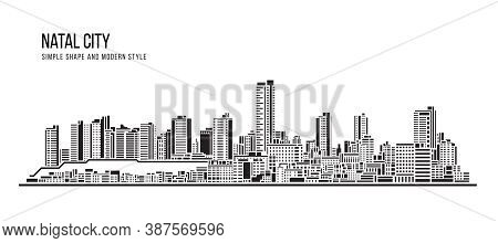 Cityscape Building Abstract Shape And Modern Style Art Vector Design -  Natal City