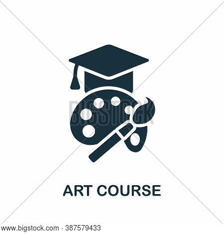 Art Course Icon. Simple Element From Online Course Collection. Creative Art Course Icon For Web Desi