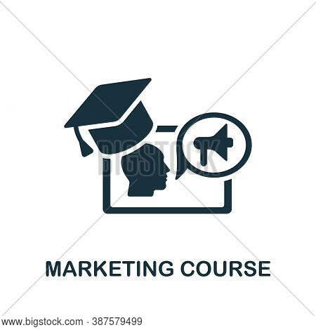Marketing Course Icon. Simple Element From Online Course Collection. Creative Marketing Course Icon