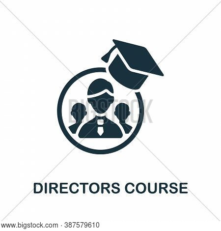 Directors Course Icon. Simple Element From Online Course Collection. Creative Directors Course Icon