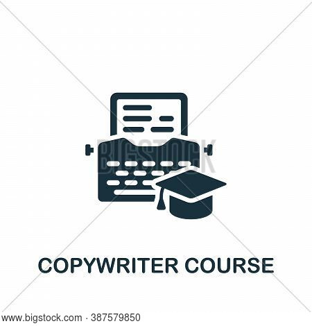 Copywriter Course Icon. Simple Element From Online Course Collection. Creative Copywriter Course Ico