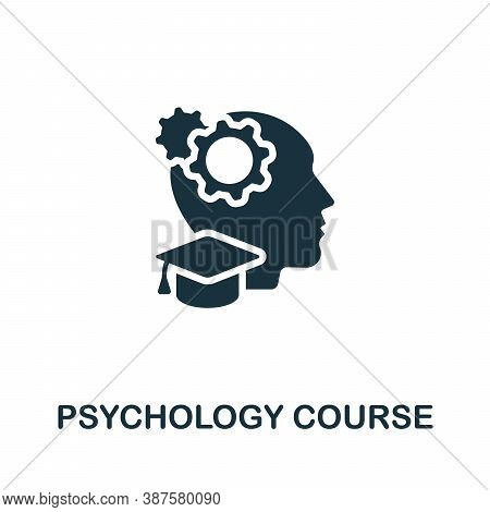 Psychology Course Icon. Simple Element From Online Course Collection. Creative Psychology Course Ico