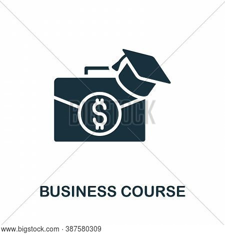 Business Course Icon. Simple Element From Online Course Collection. Creative Business Course Icon Fo