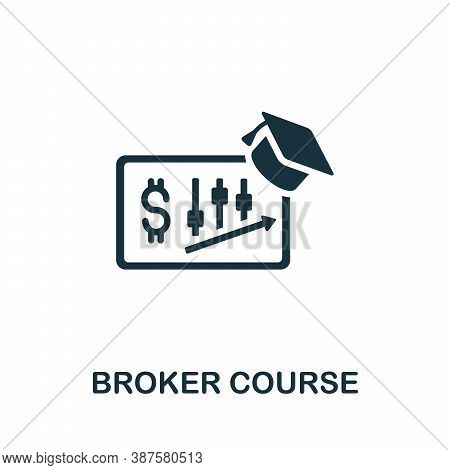 Broker Course Icon. Simple Element From Online Course Collection. Creative Broker Course Icon For We