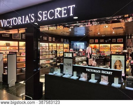 Borispol, Ukraine - September 6, 2020: Detail Of The Victoria Secrets Store At Borispol, Ukraine On