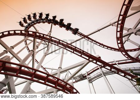 Structural Of Amusement Park Against Sky At Day Time