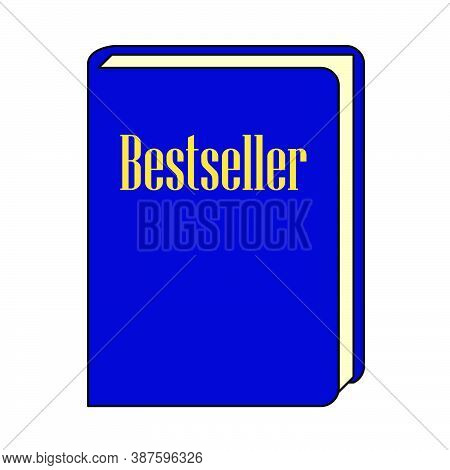 Bestseller Book Icon. Outline With Color Fill Design. Vector Illustration.