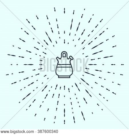Black Line Sangria Pitcher Icon Isolated On Grey Background. Traditional Spanish Drink. Abstract Cir