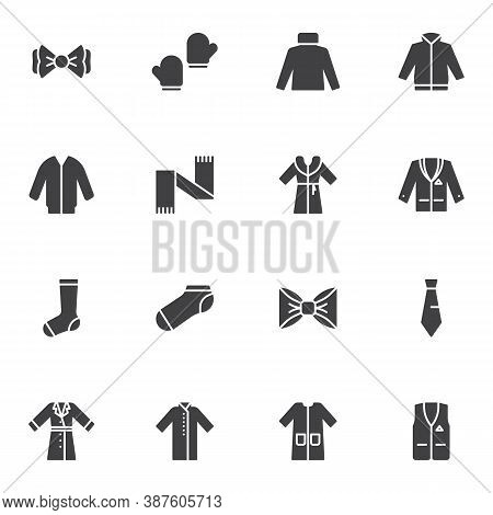 Clothes Vector Icons Set, Modern Solid Symbol Collection, Filled Style Pictogram Pack. Signs, Logo I