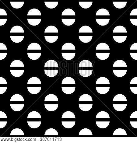 Semicircles Seamless Pattern. Ethnic Ornament. Geometrical Background. Folk Wallpaper. Tribal Motif.
