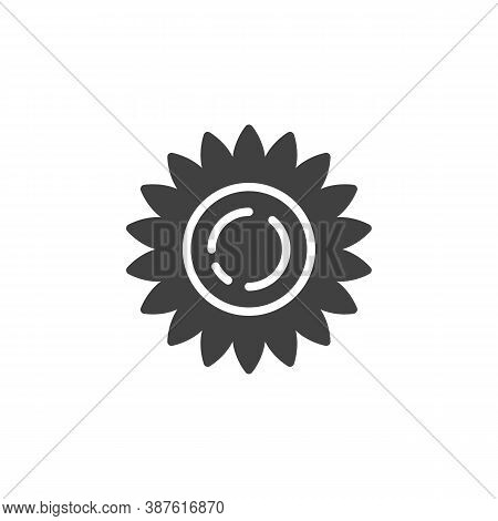 Chamomile Flower Vector Icon. Filled Flat Sign For Mobile Concept And Web Design. Chamomile Petals G