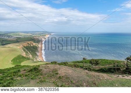 View From The Summit Of Thorncombe Beacon On The Jurassic Coast In Dorset