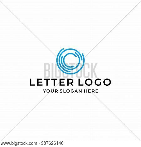 A Modern, Clean And Unique C Letter Logo That Represents A Connected Circle. Business Technology. Ep