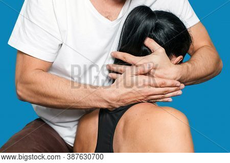 Physiotherapy Neck Pain Exercises. Body Massage Rehabilitation Center. Professional Medical Services