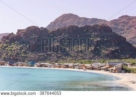 Beautuful Baja California landscapes, Mexico. Travel background, concept