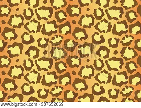 Leopard Texture. Seamless Print With Wild Animal Skin. Leopard Or Cheetah Nature Design Pattern. Wil