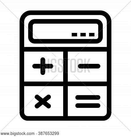 Calculator Icon Illustration. Accounting, Business, Budget Calculation, Finance Symbols. Scientific