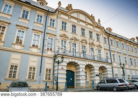 Prague, Czech Republic - September 20, 2020. Music And Dance Faculty Of The Academy Of Performing Ar