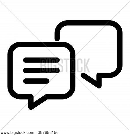 Speech Bubble Icon. Text Message, Chatting, Texting Symbols. Online Communication, Conversation Sign