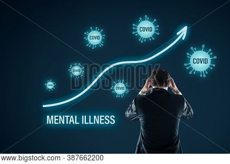 Growing Mental Illness In Covid-19 Epidemic And Crisis. Frequent Reading News And Reports About Covi